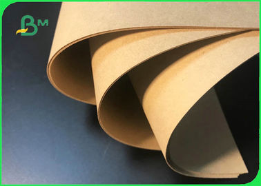250GSM 300GSM 350GSM Unbleached Kraft Cardboard Virgin Wood Pulp For Packaging